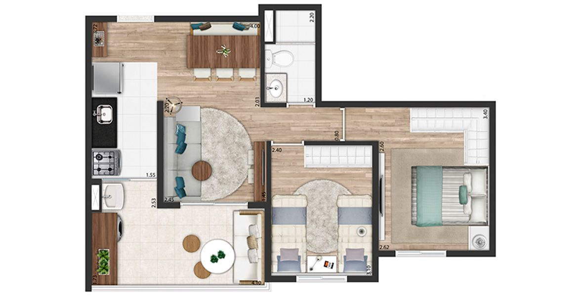 Planta do You, Sena Madureira. floorplan