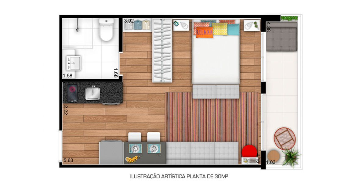 Planta do Sky Pauliceia. floorplan