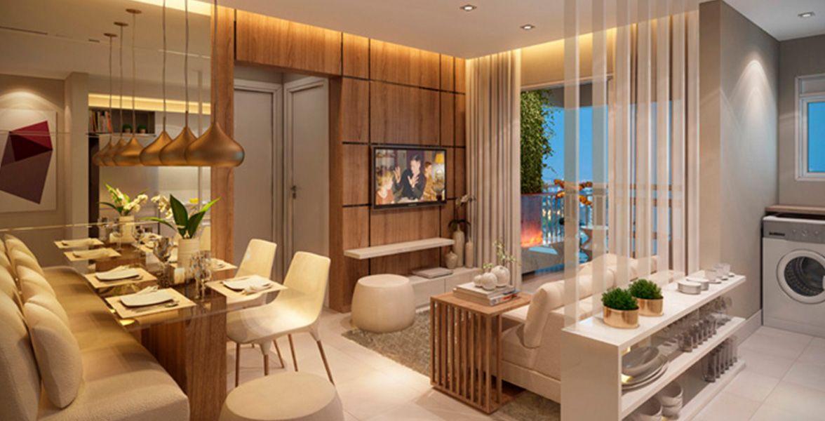 LIVING do apto de 54 m².