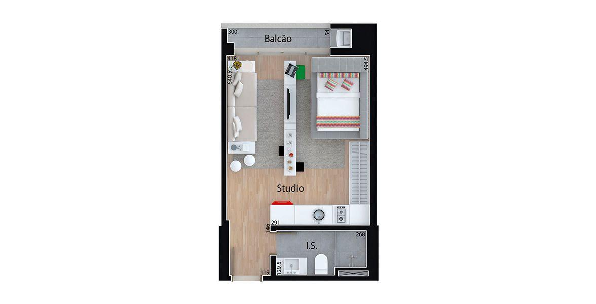 Planta do MID Home. floorplan