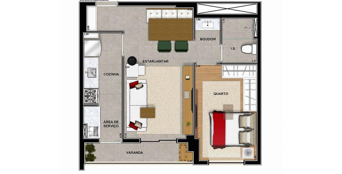 Planta do Vega to Live. floorplan