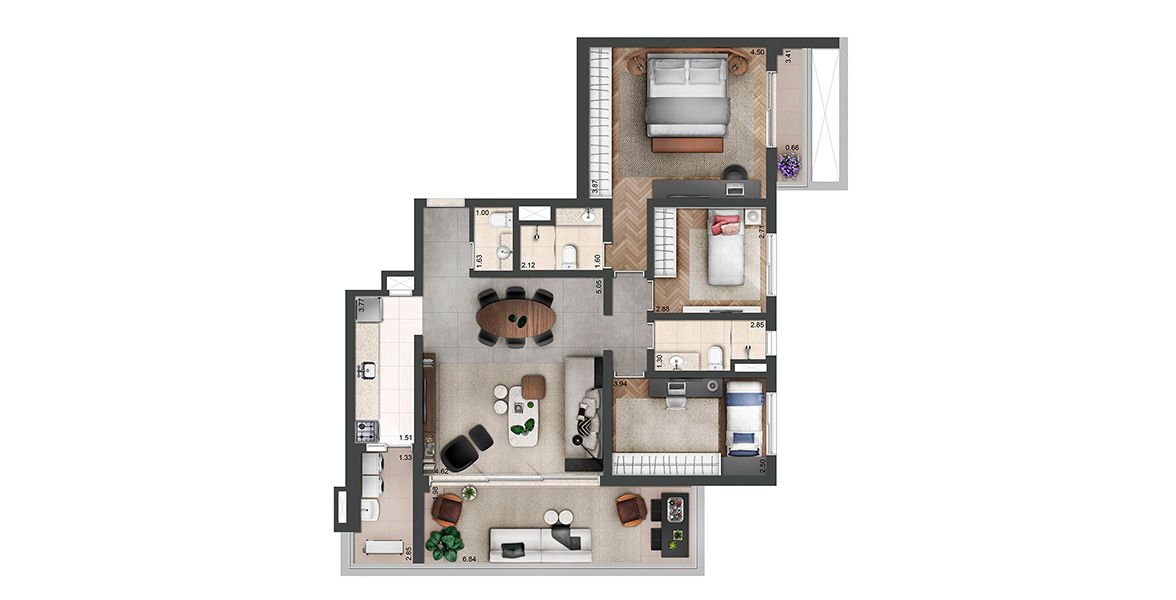 Planta do Jazz Perdizes. floorplan