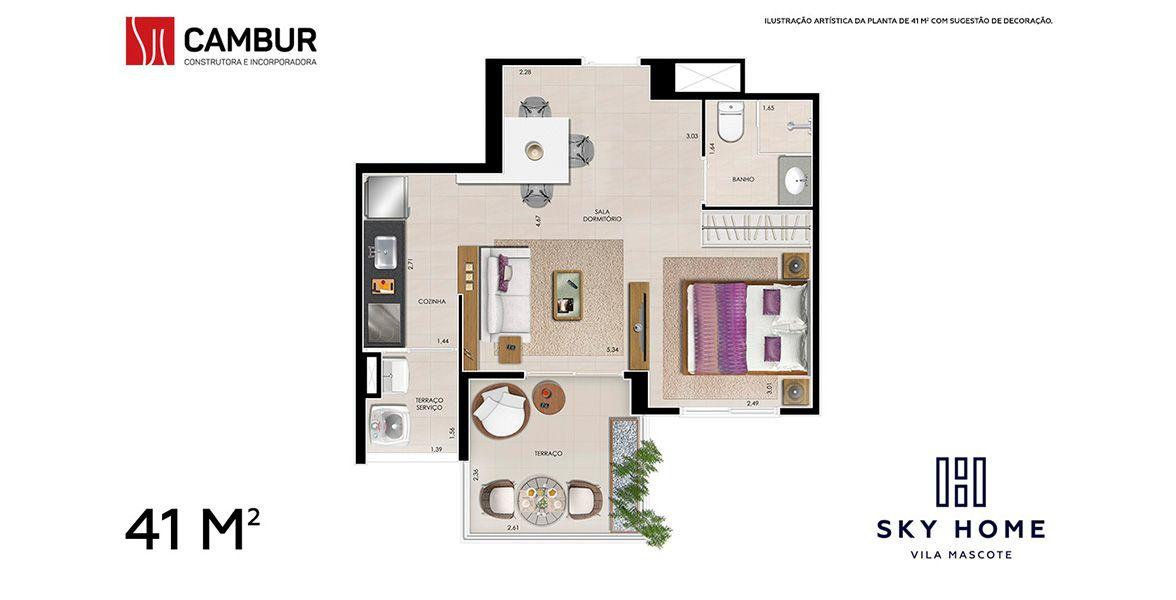 Planta do Sky Home. floorplan