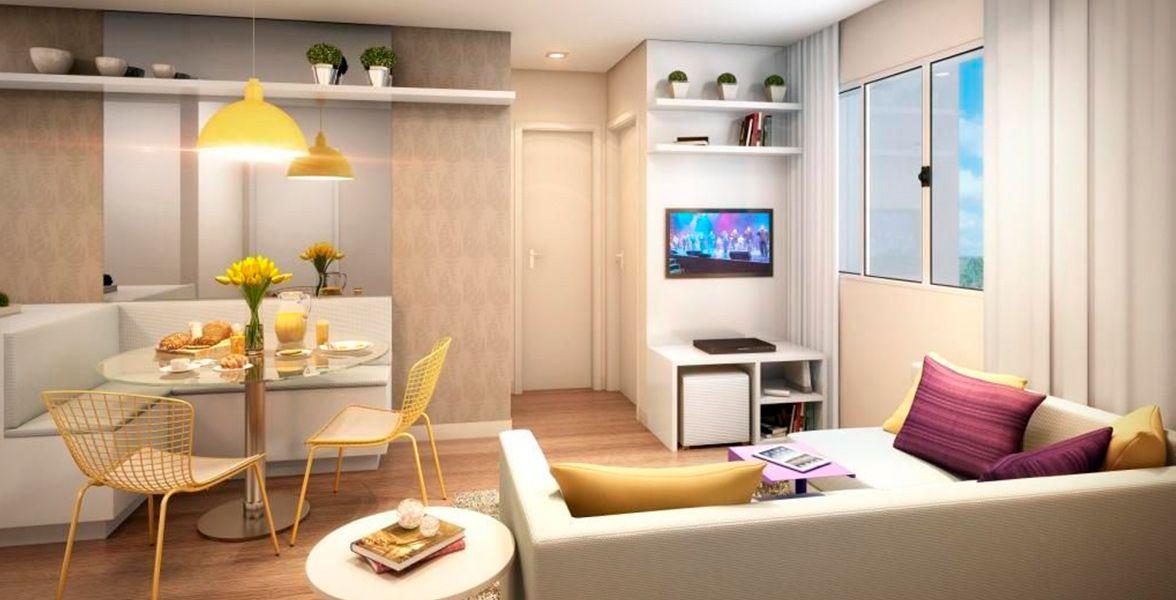 LIVING do apto de 40 m²