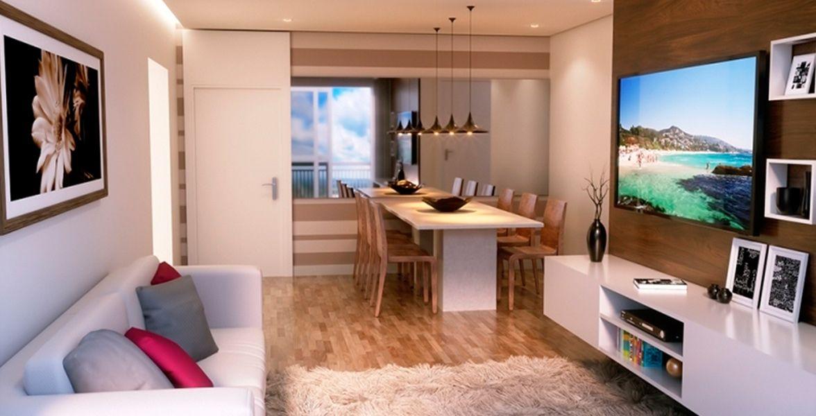 LIVING do apto de 59 m²