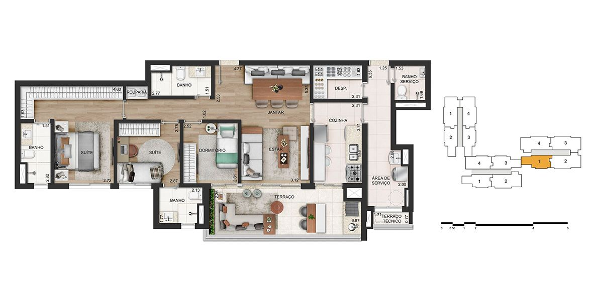 Planta do Autoral. floorplan