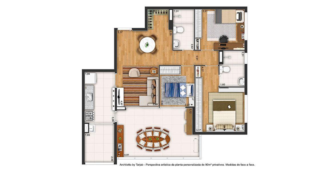 Planta do Architetto. floorplan