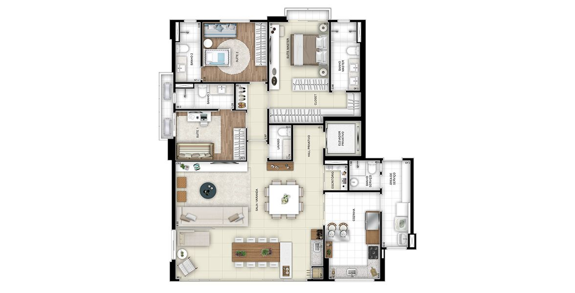 Planta do Âme Infinity Home. floorplan