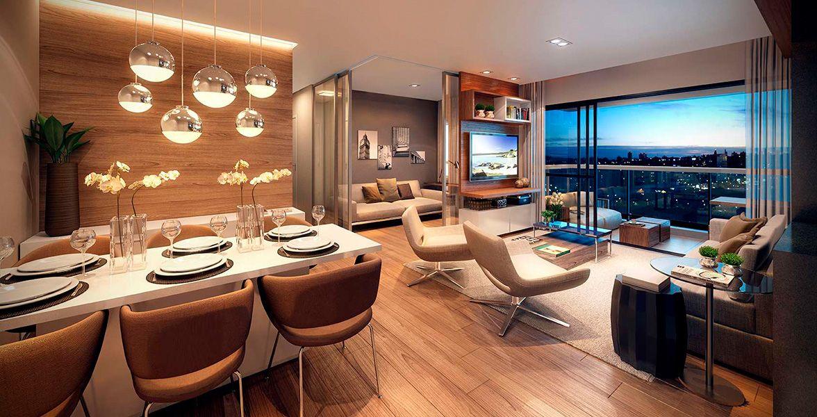 LIVING do apto de 117 m².