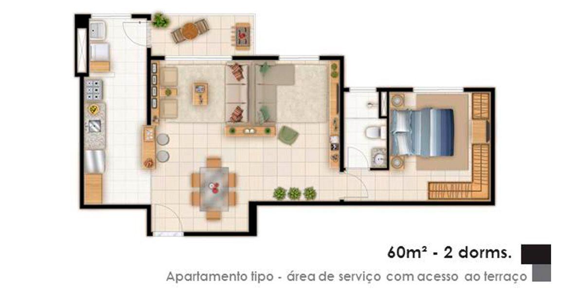 Planta do Smile Club Morada do Sol. floorplan