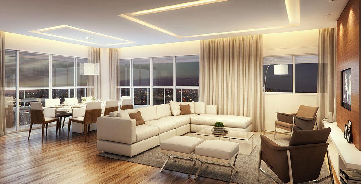 LIVING do apto de 163 m²