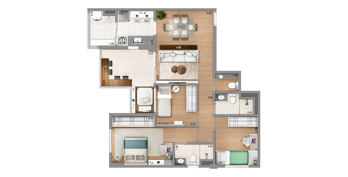 Planta do Venice. floorplan