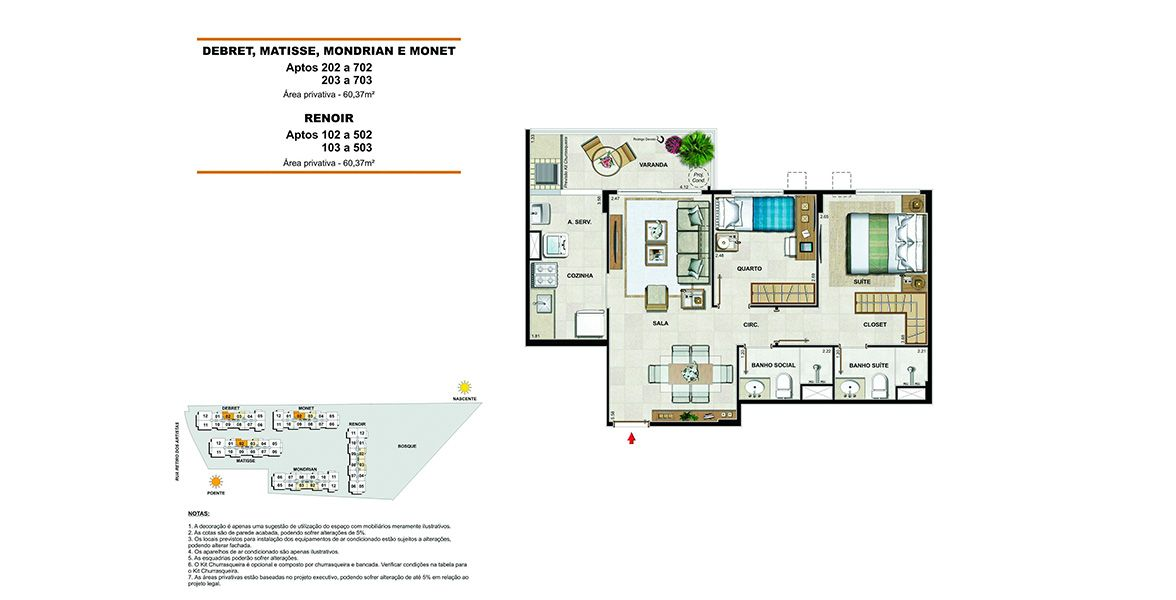 Planta do Vernissage Residence & Club. floorplan