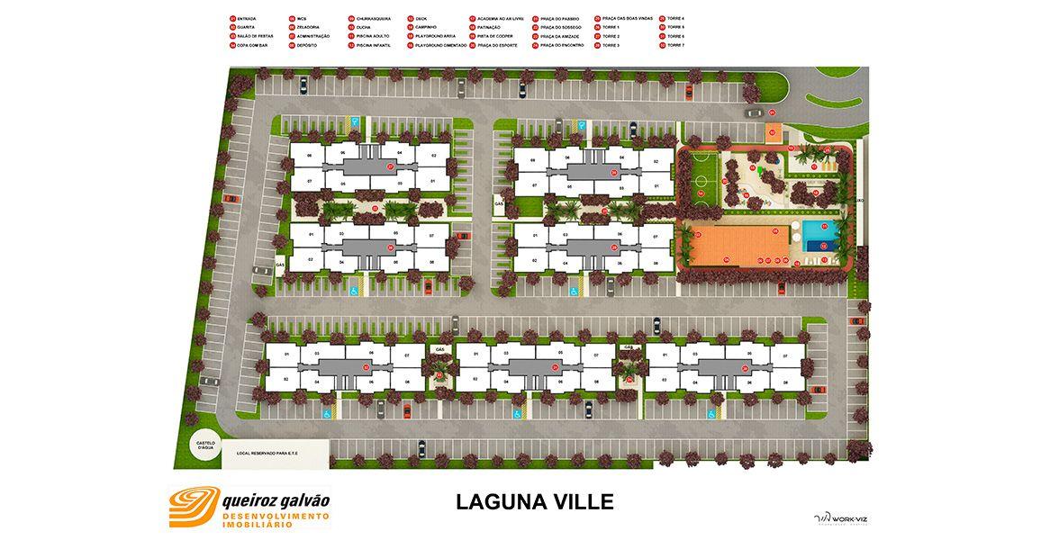 Planta do Laguna Ville. floorplan