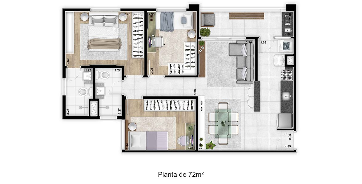 Planta do KlubHaus Jundiaí. floorplan