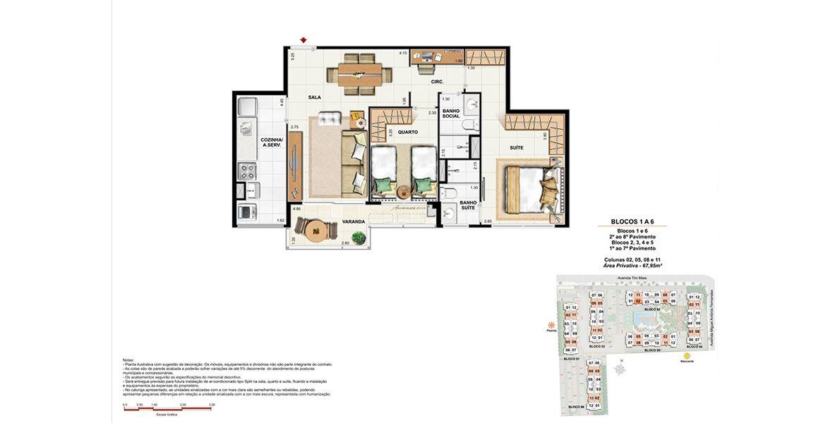 Planta do RG Personal Residences. floorplan