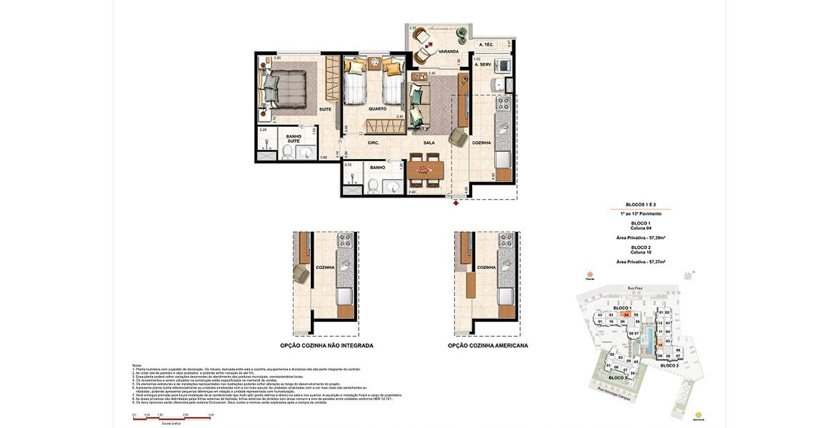 Planta do Up Norte. floorplan