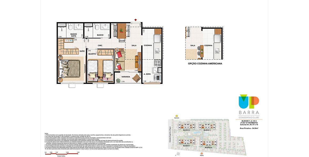 Planta do Up Barra Condomínio Clube. floorplan