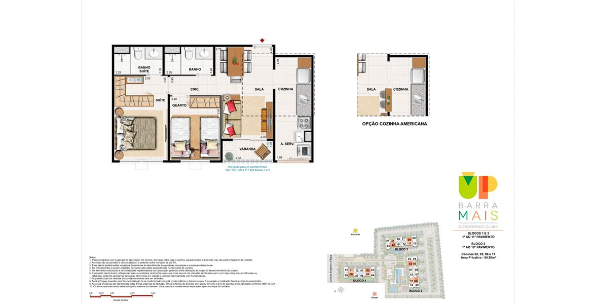Planta do Up Barra Mais Condomínio. floorplan