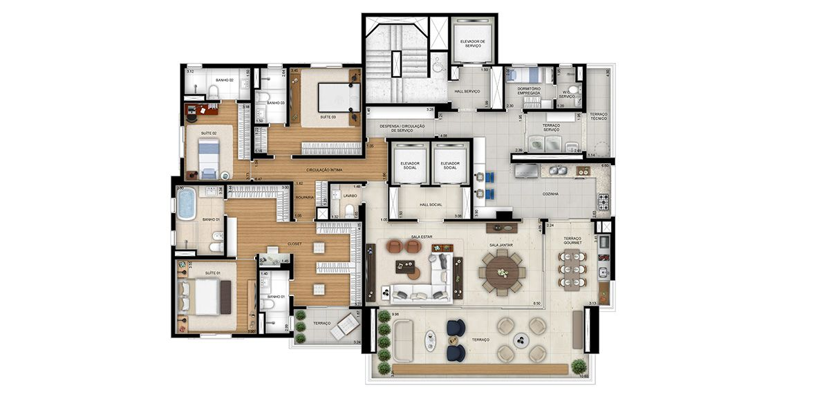 Planta do Lindenberg Itaim. floorplan