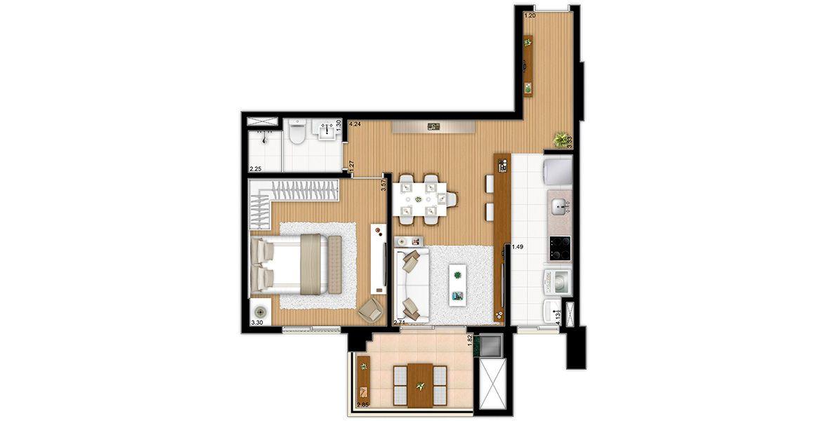 Planta do Hub Home. floorplan