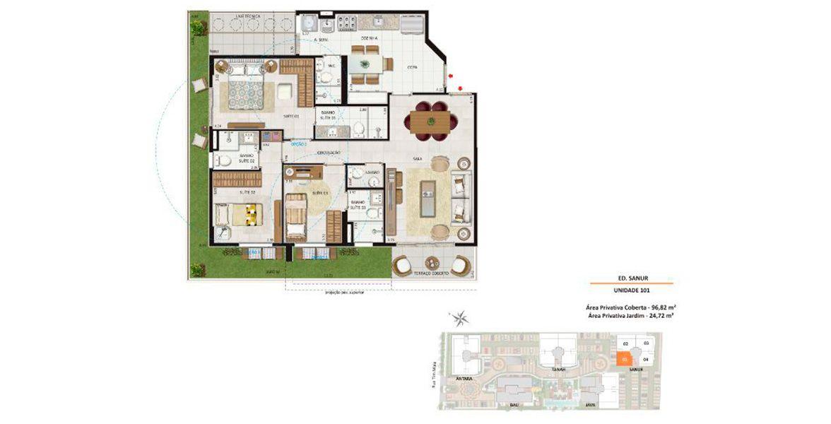 Planta do Damai Residences & Lifestyle. floorplan