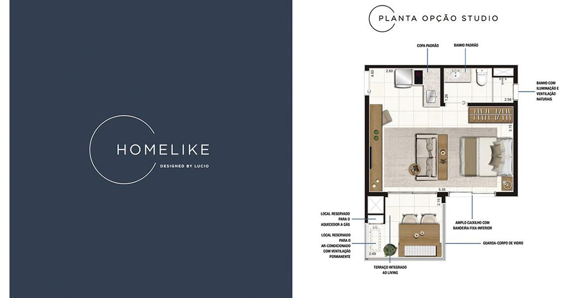 Planta do HomeLike. floorplan
