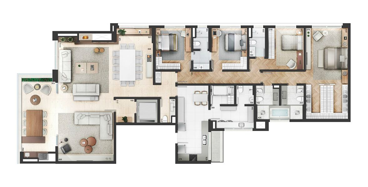 Planta do Yoo Moinhos. floorplan