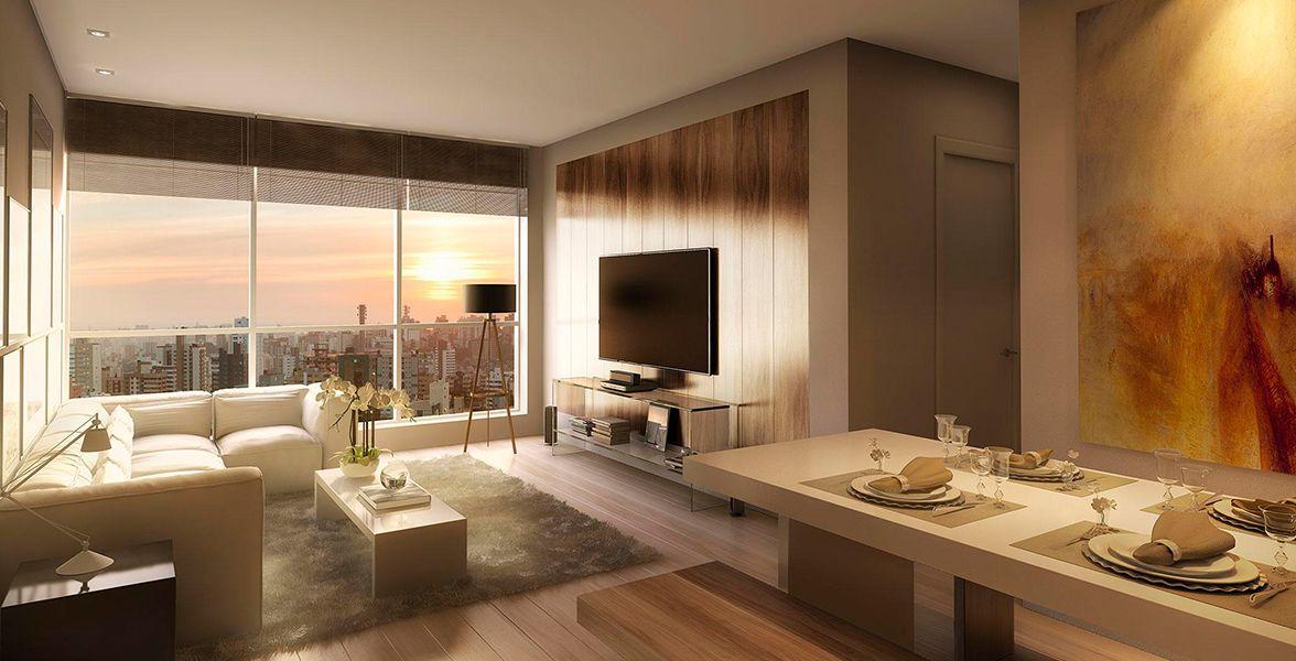 LIVING do apto de 80 m²
