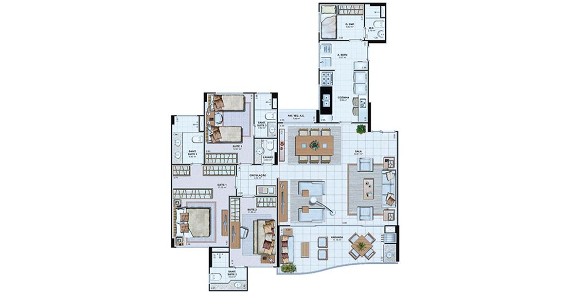 Planta do Le Parc Salvador. floorplan