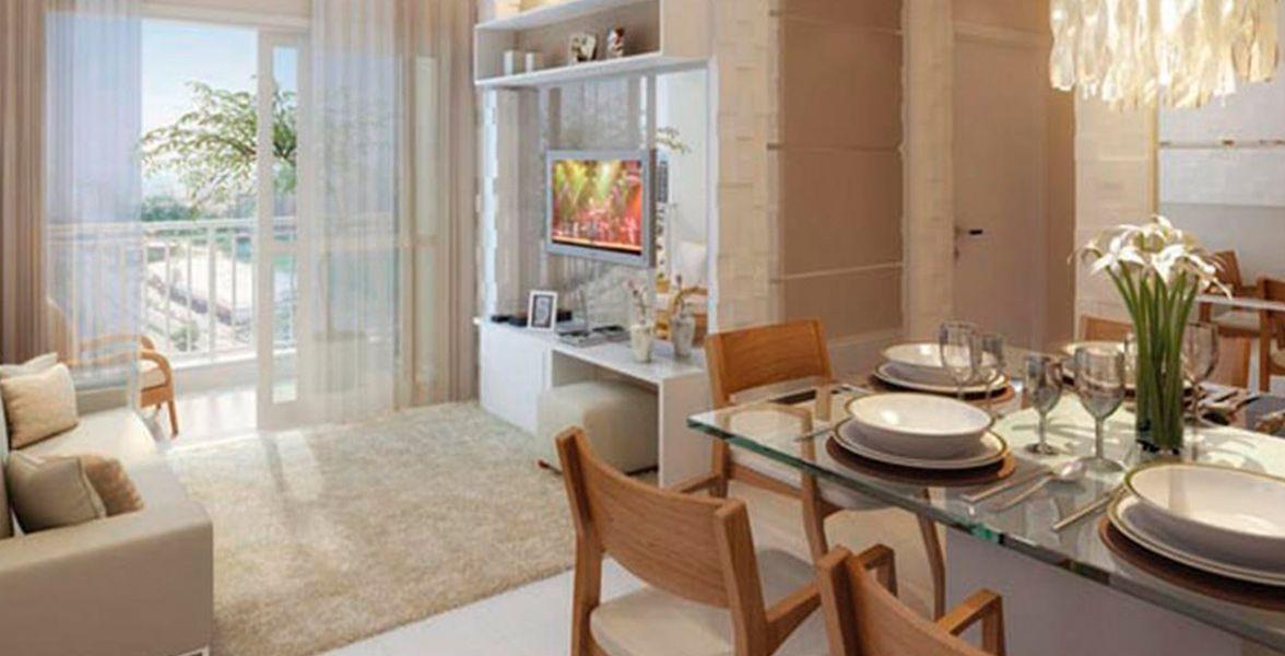 LIVING E SALA DE JANTAR do Vita Residencial Club