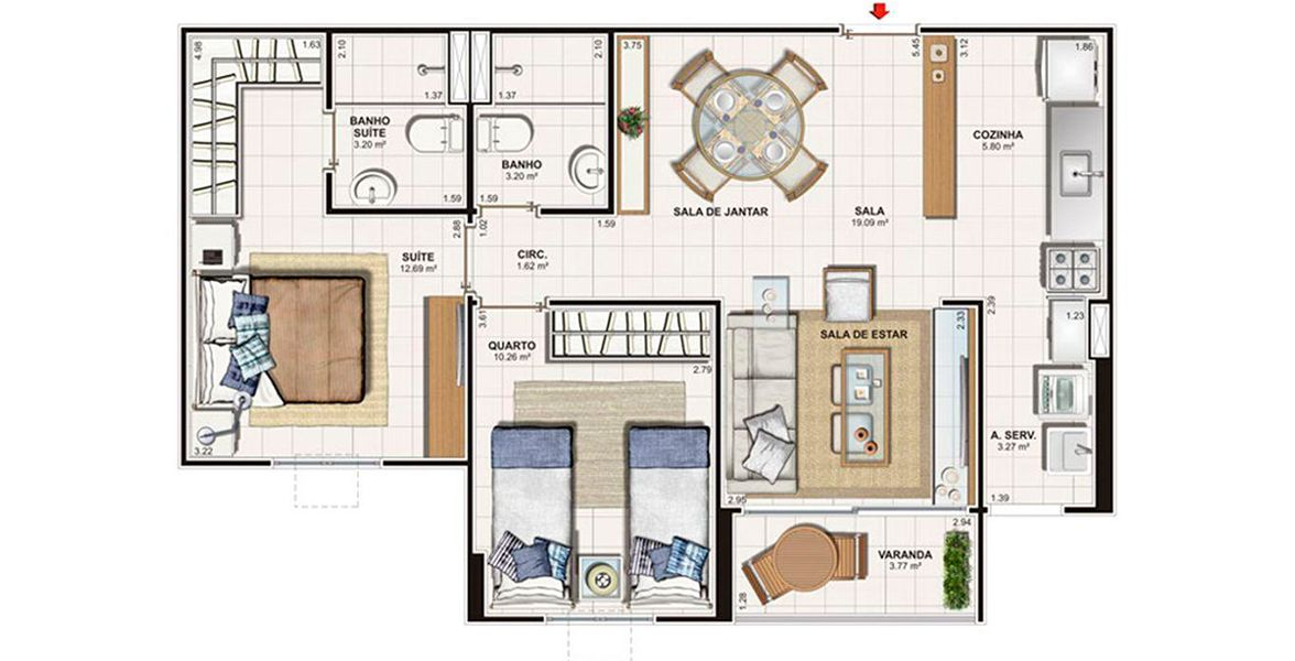 Planta do Vita Praia. floorplan