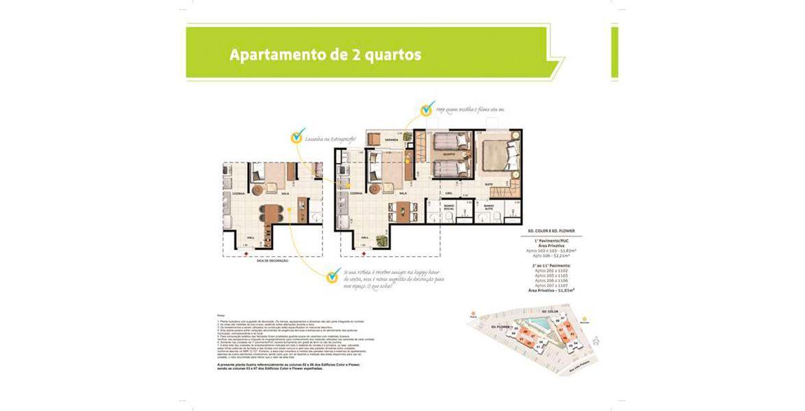 Planta do Living Choice João Pinheiro. floorplan