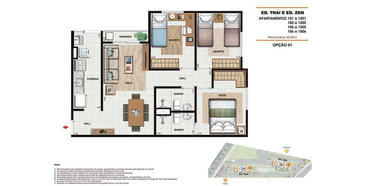 Planta do Way Bandeirantes Residencial. floorplan