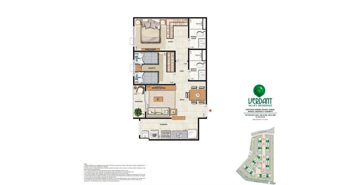 Planta do Verdant Valley Residence. floorplan
