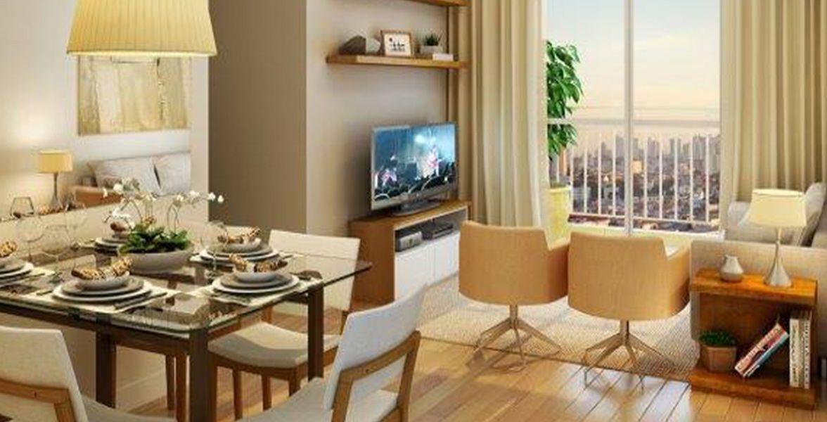 LIVING do apto de 60 m²