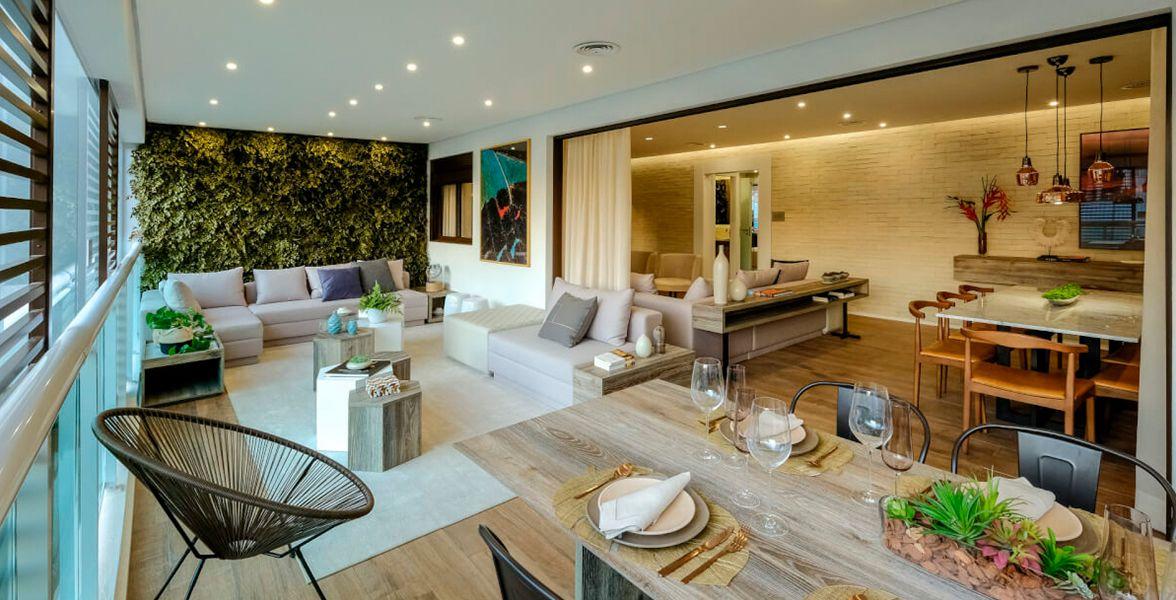 LIVING do apto de 178 m².