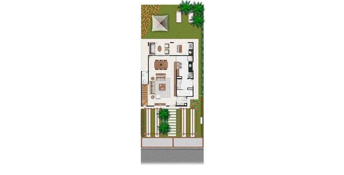 Planta do Villaggio Shangrilá. floorplan