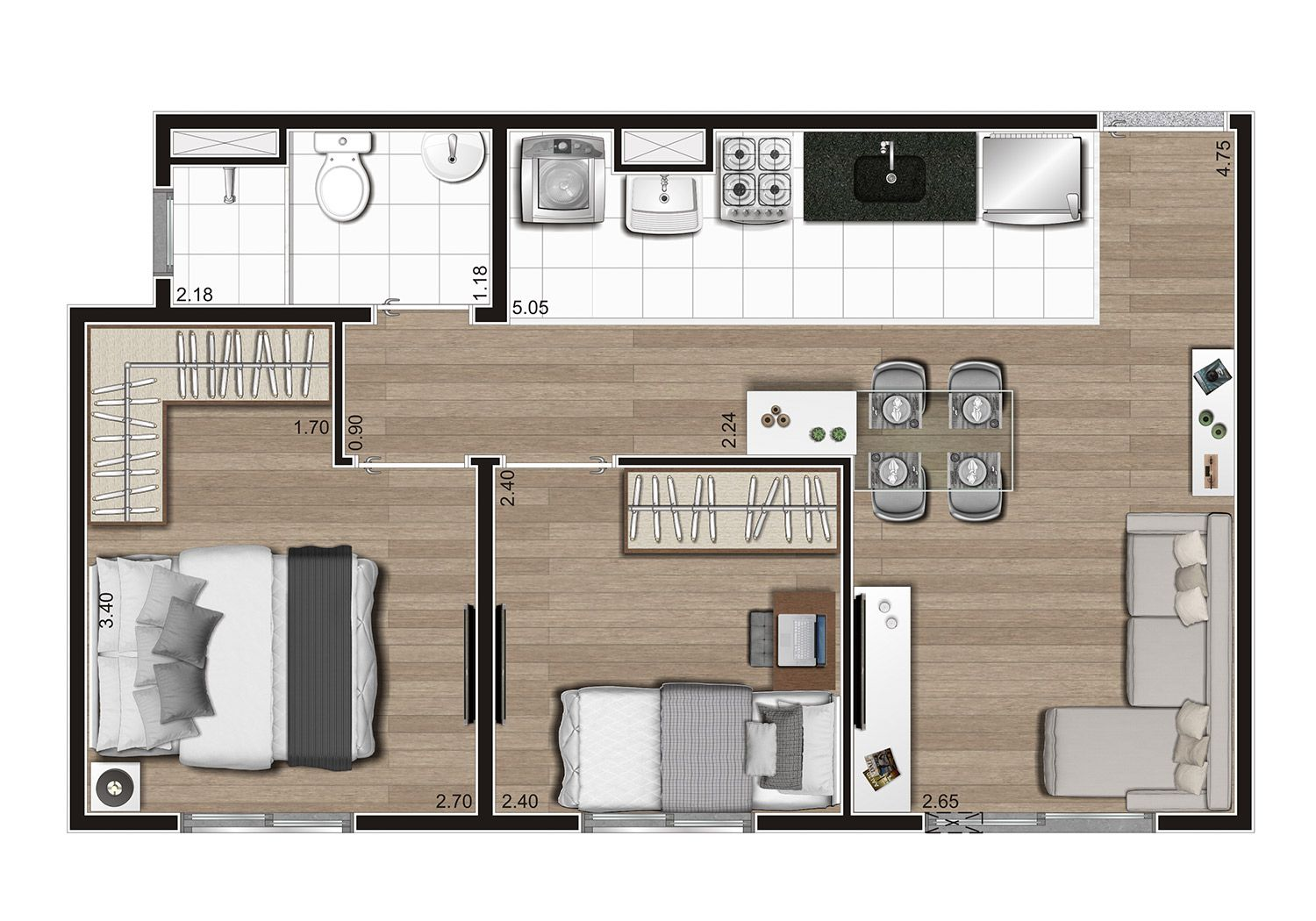 Planta do Look's. floorplan
