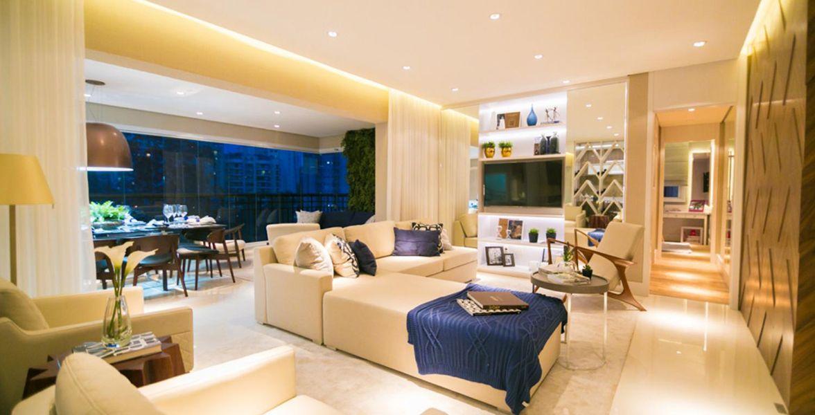 LIVING do apto de 138 m²