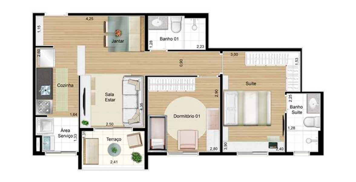 Planta do Innova Blue. floorplan