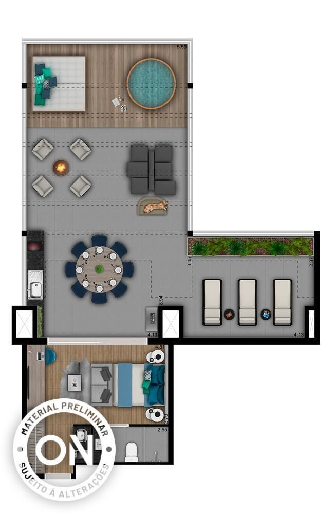 Planta do VN Faria Lima. floorplan