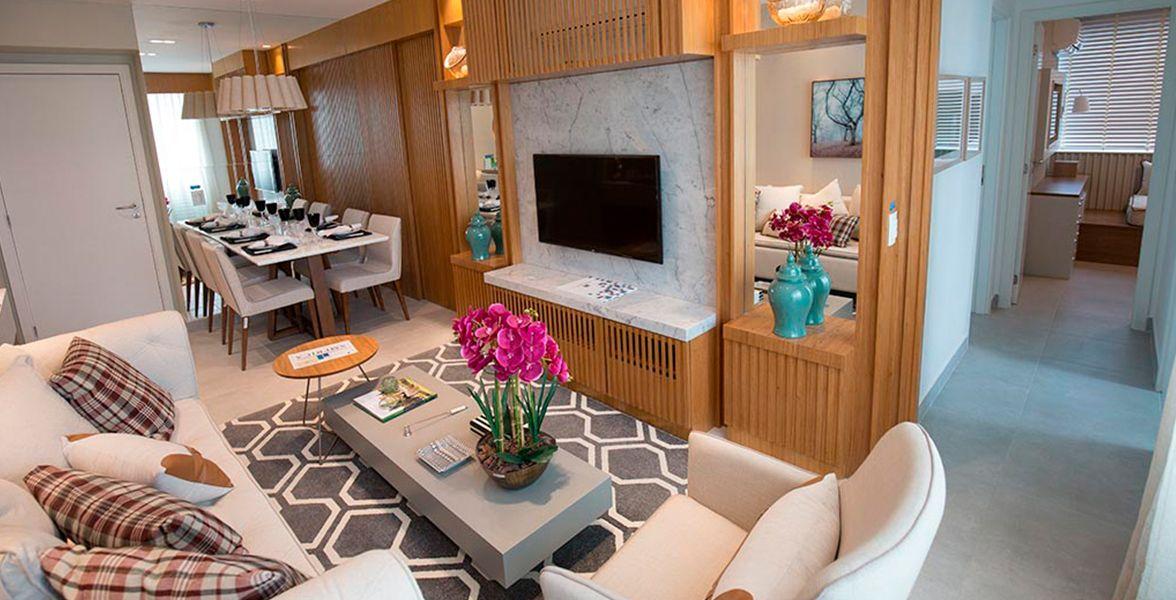 LIVING do apto de 68 m² do America Residence Service