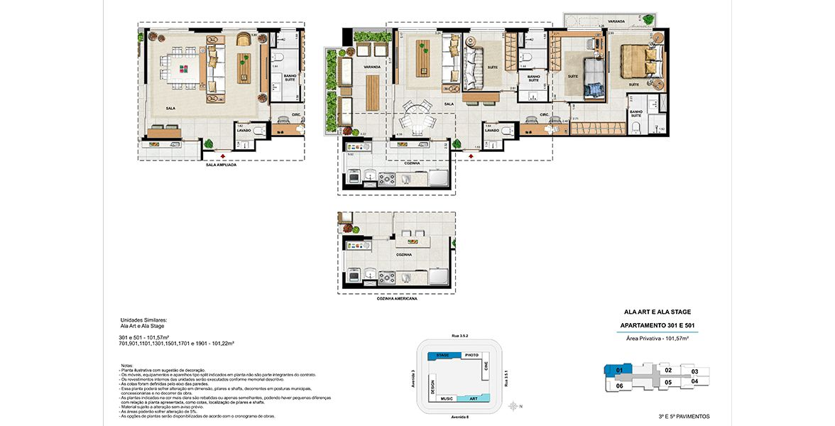 Planta do Soho Design Residence. floorplan