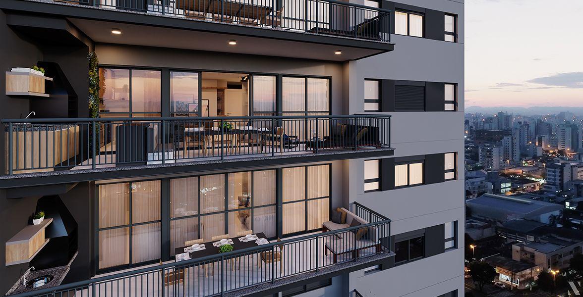 DETALHE DO TERRAÇO do apto de 106 m².