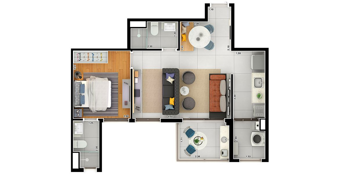 Planta do Arvo Lacerda Franco. floorplan