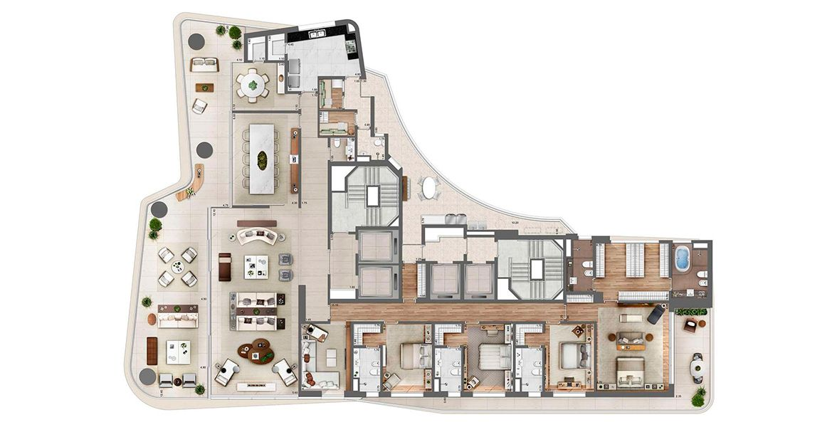 Planta do Heritage Cyrela. floorplan