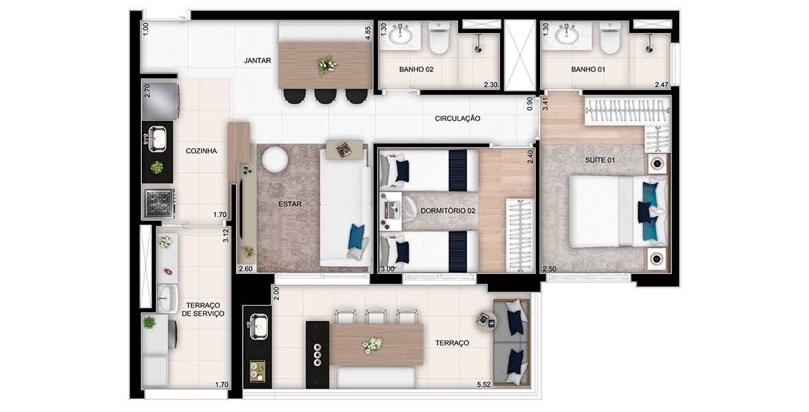 Planta do The Place Home. floorplan