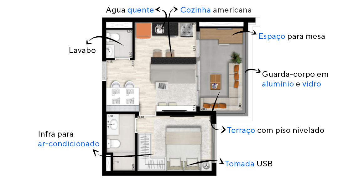 Planta do State Ibirapuera. floorplan