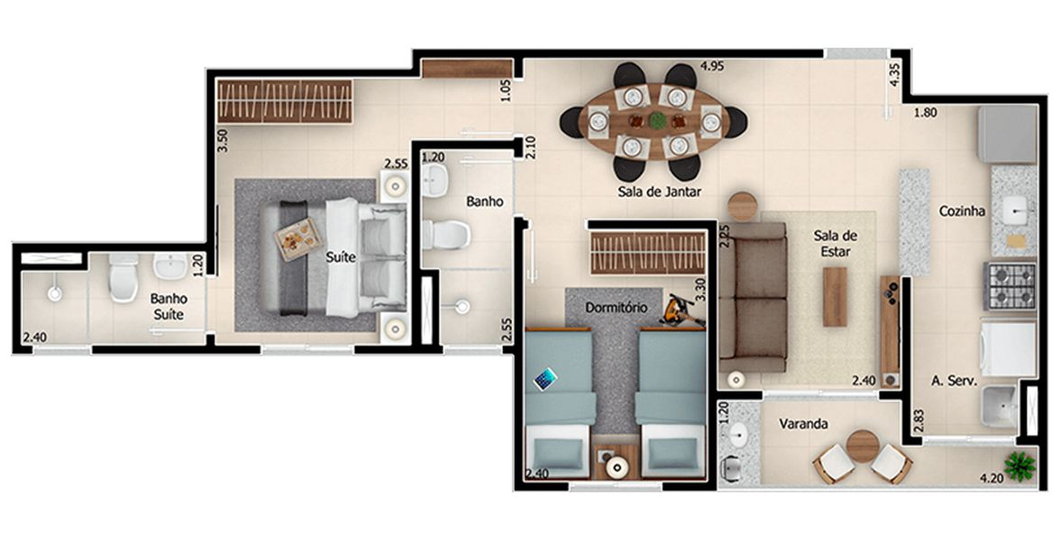 Planta do JR Campolim. floorplan